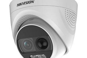 Camera HDTVI C ó màu ban đêm tích hợp còi báo động 2MP HIKVISION DS-2CE72DFT-PIRXOF